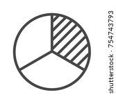 pie chart thin line icon. flat... | Shutterstock . vector #754743793