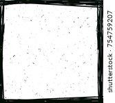 grunge frame. design template.... | Shutterstock .eps vector #754759207