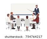 group of cartoon people dressed ... | Shutterstock .eps vector #754764217