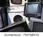 Small photo of Electronics waste old, used and obsolete electronic equipment