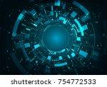 abstract futuristic digital... | Shutterstock .eps vector #754772533