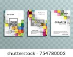 abstract business brochure... | Shutterstock .eps vector #754780003