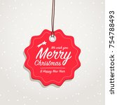 merry christmas   happy new... | Shutterstock .eps vector #754788493