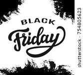 black friday typography... | Shutterstock .eps vector #754805623