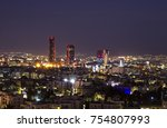 abdali area towers and hotels... | Shutterstock . vector #754807993