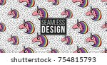 seamless pattern background... | Shutterstock .eps vector #754815793