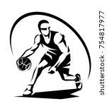 basketball player stylized... | Shutterstock .eps vector #754817977