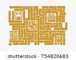 aztec pattern  suitable as a... | Shutterstock .eps vector #754820683