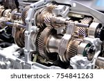 cross section of a car gearbox. | Shutterstock . vector #754841263