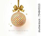 christmas greeting card  ...   Shutterstock .eps vector #754845313