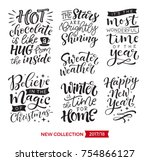 vector set of holidays... | Shutterstock .eps vector #754866127