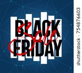 abstract vector black friday... | Shutterstock .eps vector #754876603