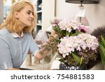 gorgeous young woman shopping... | Shutterstock . vector #754881583