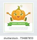 cute humanized gourd vegetable