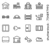 thin line icon set   warehouse  ... | Shutterstock .eps vector #754897993