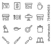 thin line icon set   shop... | Shutterstock .eps vector #754904053