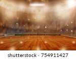 low angle view of basketball... | Shutterstock . vector #754911427