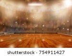 Low Angle View Of Basketball...