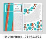 abstract vector layout... | Shutterstock .eps vector #754911913