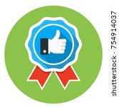 badge with thumbs up icon   Shutterstock .eps vector #754914037