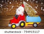 christmas holiday celebration... | Shutterstock . vector #754915117