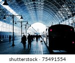 Covered Railway Station With...