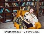 lovely books lovers. beautiful... | Shutterstock . vector #754919203