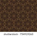 decorative wallpaper design in... | Shutterstock .eps vector #754919263
