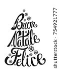 buon natale lettering in... | Shutterstock .eps vector #754921777