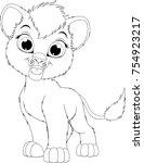 vector illustration  funny... | Shutterstock .eps vector #754923217