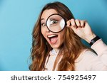 close up portrait of a cheerful ... | Shutterstock . vector #754925497