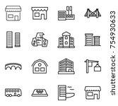 thin line icon set   shop ... | Shutterstock .eps vector #754930633