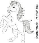 vector illustration  funny baby ... | Shutterstock .eps vector #754934503