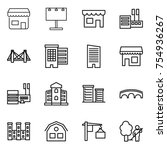 thin line icon set   shop ... | Shutterstock .eps vector #754936267