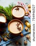 masala tea chai latte... | Shutterstock . vector #754946527