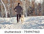 labrador retriever dog for a... | Shutterstock . vector #754947463