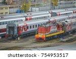 moscow  russia  oct 26  2017 ... | Shutterstock . vector #754953517