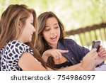 expressive young adult... | Shutterstock . vector #754986097