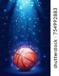 basketball arena light | Shutterstock . vector #754992883