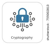 cryptography icon. modern...   Shutterstock .eps vector #755002813
