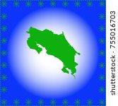 map of costa rica | Shutterstock .eps vector #755016703