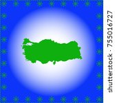map of turkey | Shutterstock .eps vector #755016727