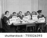 national league of women voters ... | Shutterstock . vector #755026393