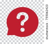question mark sign in red... | Shutterstock .eps vector #755062423