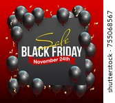 black friday sale beautiful... | Shutterstock . vector #755068567