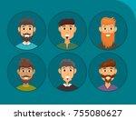 character of various... | Shutterstock .eps vector #755080627