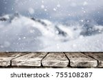 empty table background | Shutterstock . vector #755108287