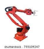 robotic arm for industry... | Shutterstock . vector #755109247