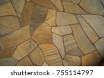marble sidewalk with colorful... | Shutterstock . vector #755114797