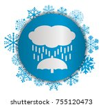 rain christmas icon | Shutterstock .eps vector #755120473